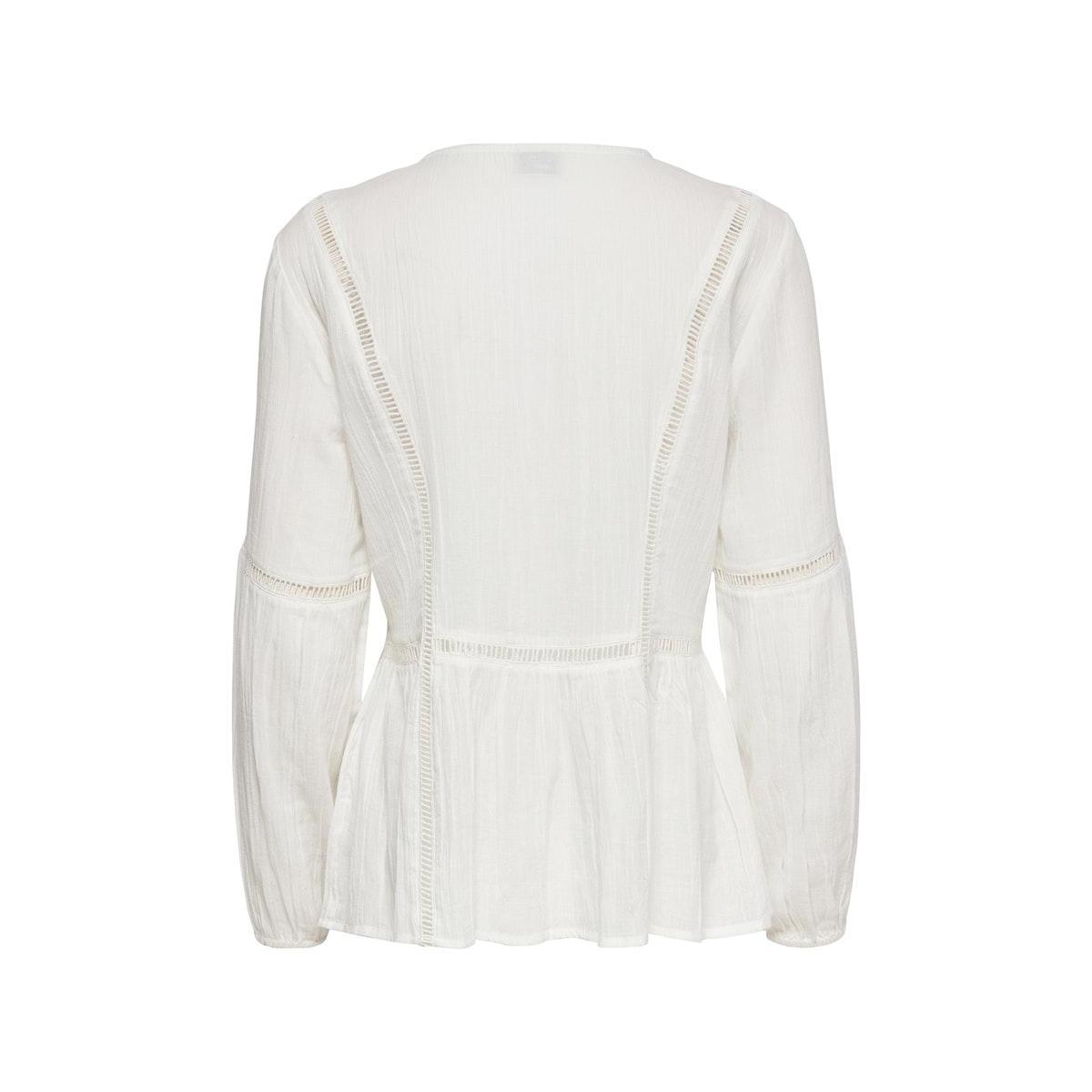 jdytrinity life l/s lace  blouse wv 15201217 jacqueline de yong blouse cloud dancer