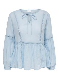 jdytrinity life l/s lace  blouse wv 15201217 jacqueline de yong blouse cambary blue