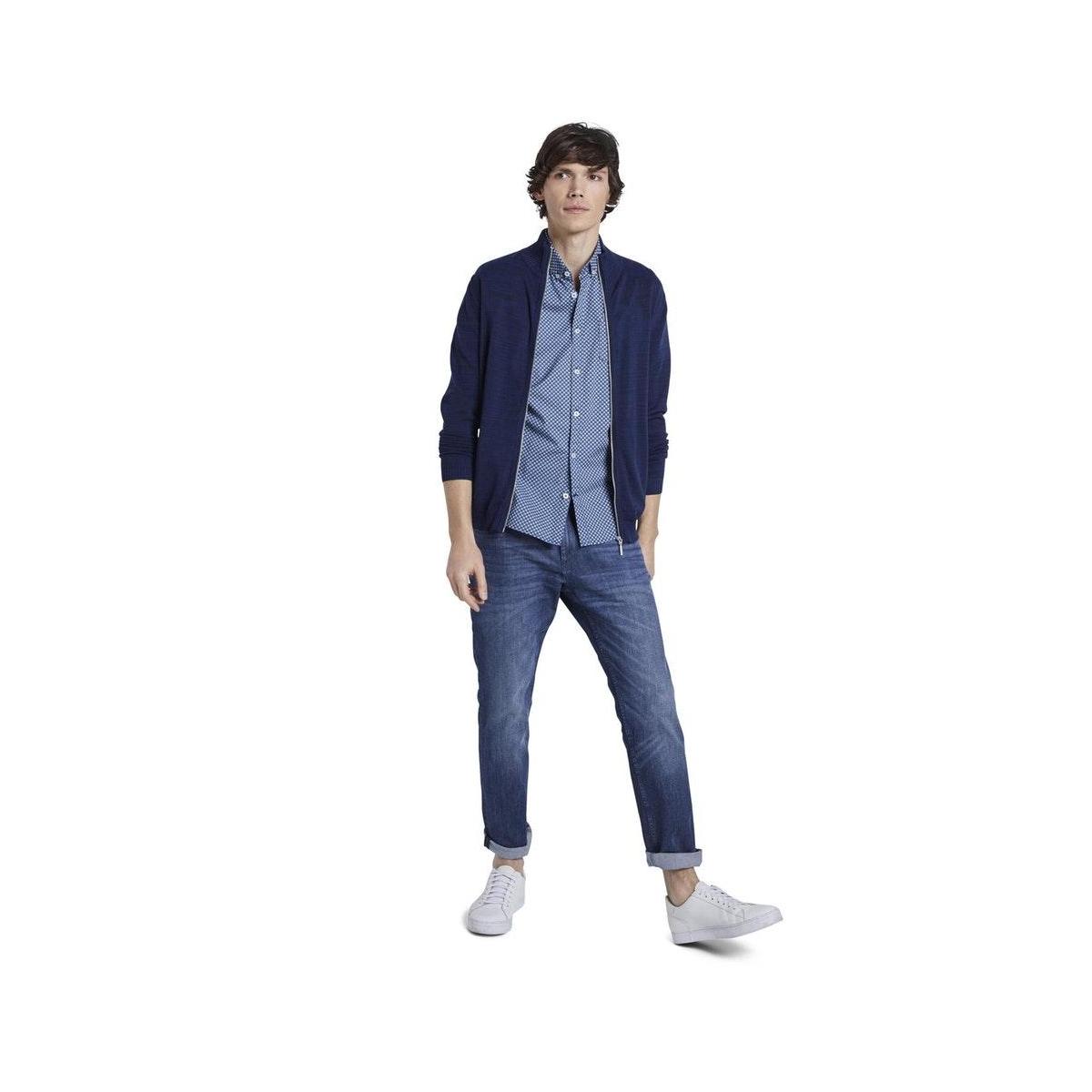 overhemd met korte mouwen en borstzak 1017176xx10 tom tailor overhemd 21929