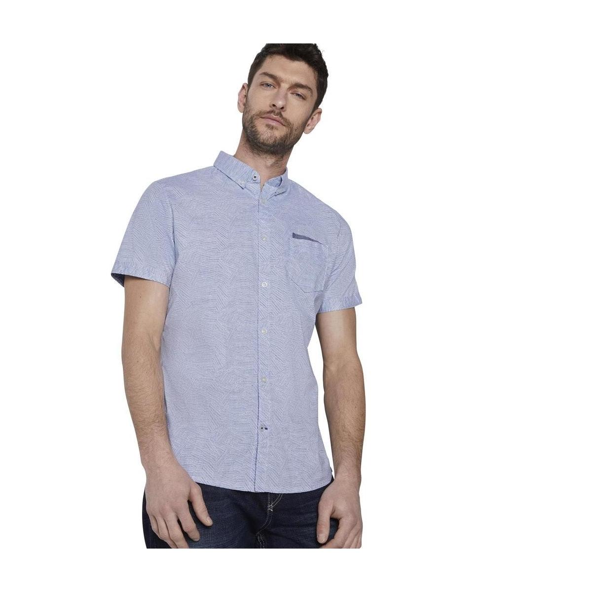 overhemd met korte mouwen en borstzak 1017176xx10 tom tailor overhemd 22148