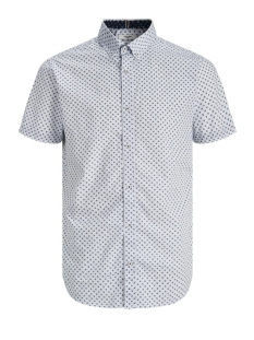 Jack & Jones Overhemd JPRBLAPETER DETAIL SHIRT S/S STRETC 12170681 White/SLIM FIT