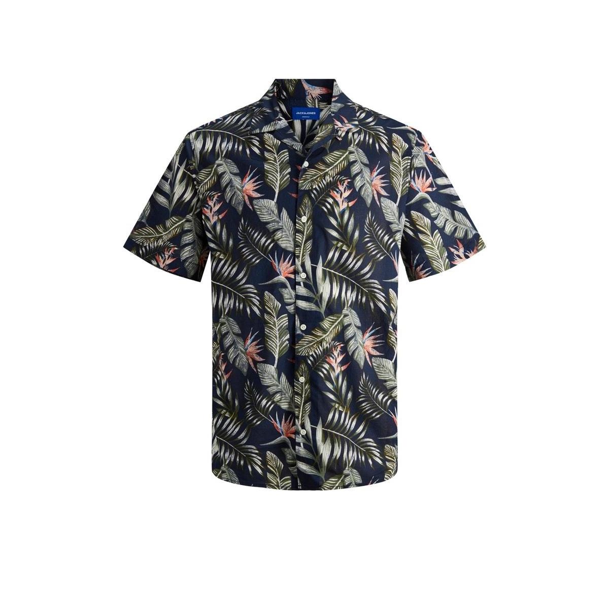 jormarty organic shirt ss 12170478 jack & jones overhemd navy blazer
