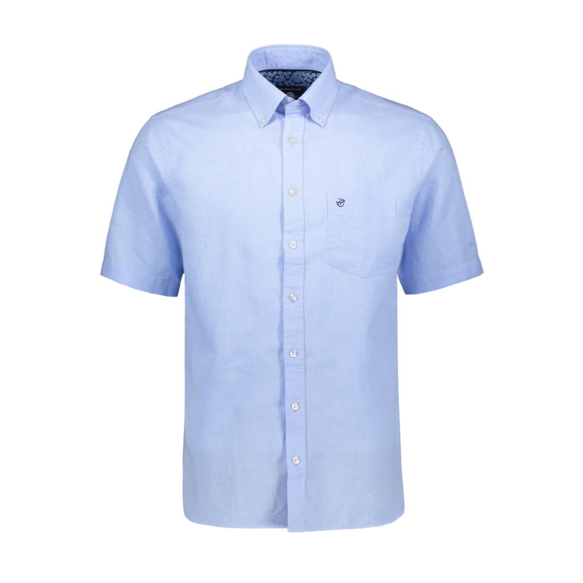 casual overhemd km 052908 campbell overhemd 311 lichtblauw uni