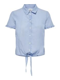 Only Blouse ONLKATRINA LIFE SS KNOT DNM SHIRT 15199809 Medium Blue Denim