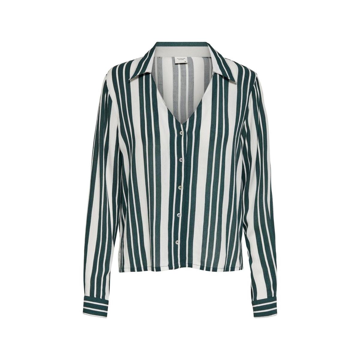 jdyrasser l/s shirt wvn 15194256 jacqueline de yong blouse cloud dancer/green gabl