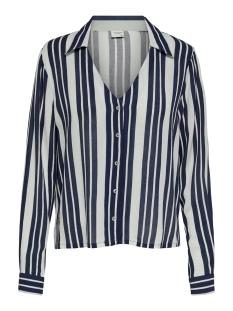 jdyrasser l/s shirt wvn 15194256 jacqueline de yong blouse cloud dancer/navy blazer