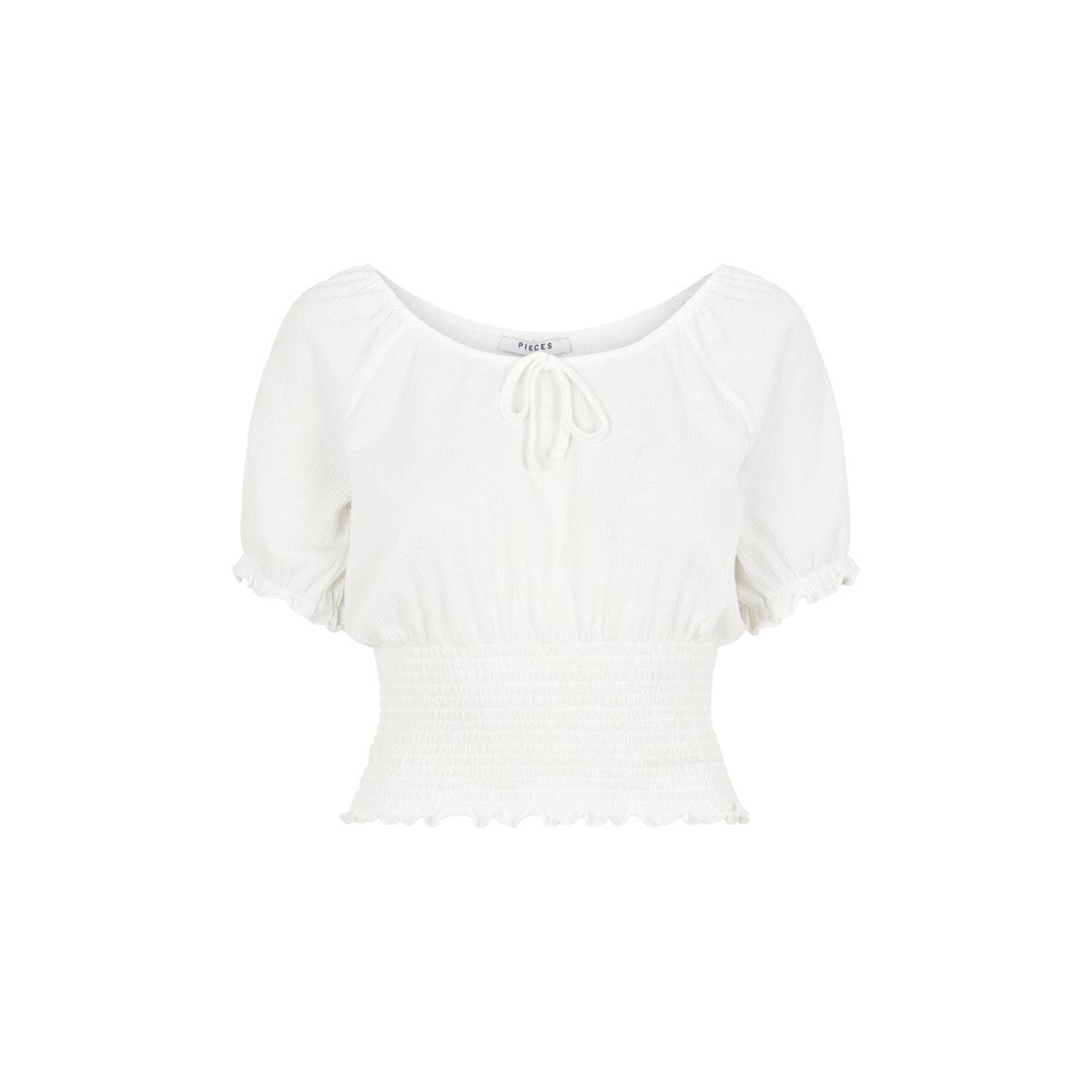 pcannie ss top bc 17103589 pieces t-shirt cloud dancer