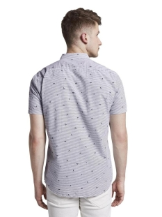 shirt met patroon 1018586xx12 tom tailor overhemd 23801