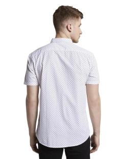 shirt met patroon 1018586xx12 tom tailor overhemd 23798