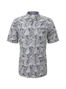 overhemd met all over print 1018652xx10 tom tailor overhemd 23331