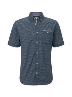 overhemd met all over print 1018652xx10 tom tailor overhemd 22672
