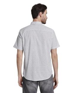 overhemd met all over print 1018652xx10 tom tailor overhemd 22671