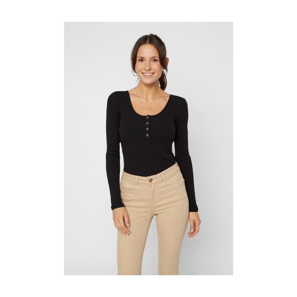 pckitte ls top noos bc 17101437 pieces t-shirt black