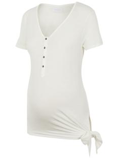 Mama-Licious Positie shirt MLFIA LIA S/S JERSEY TOP 2F A. 20011413 Snow White