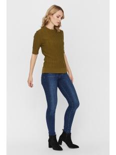 vmvitawave 2/4 highneck blouse ga 10232495 vero moda trui fir green