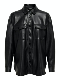 Only Blouse ONLBRYLEE-DIONNE FAUX LEATHER SHIRT 15209291 BLACK