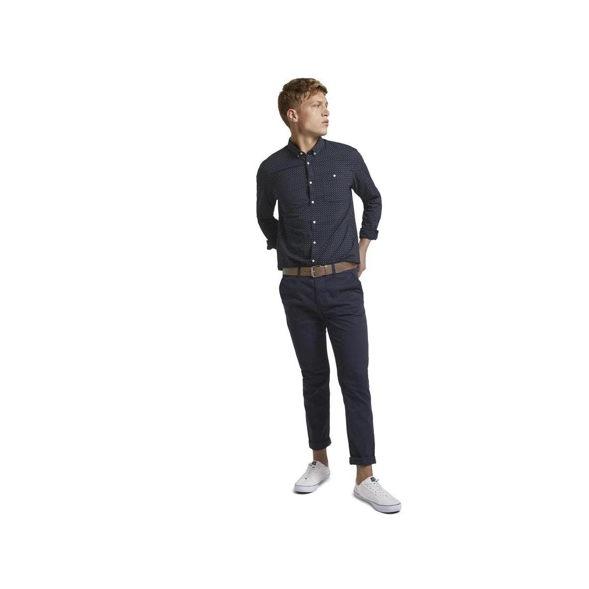 overhemd met borstzak 1020190xx12 tom tailor overhemd 23977