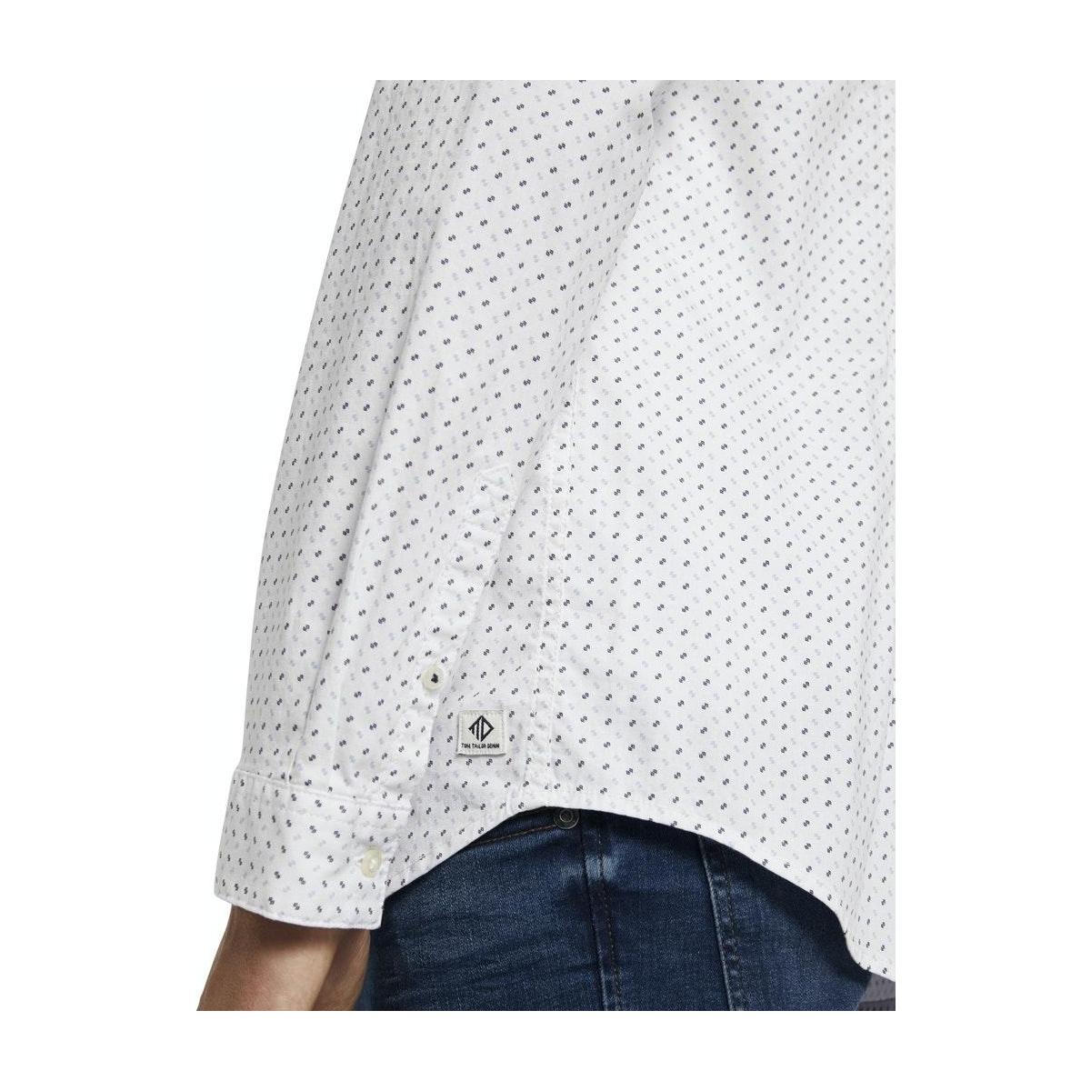 overhemd met borstzak 1020190xx12 tom tailor overhemd 23978