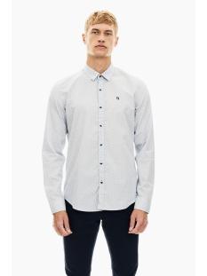 Garcia Overhemd OVERHEMD MET ZIGZAG PATROON T01234 50 WHITE