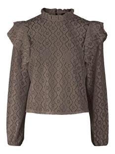 Pieces T-shirt PCSIKKA LS LACE TOP 17106914 Falcon