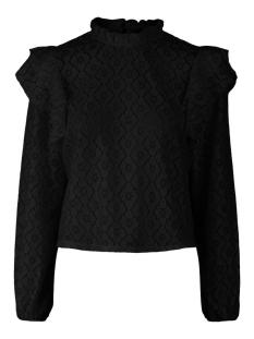 Pieces T-shirt PCSIKKA LS LACE TOP 17106914 Black
