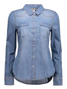 vera denim shirt 10122832 vero moda blouse light blue denim