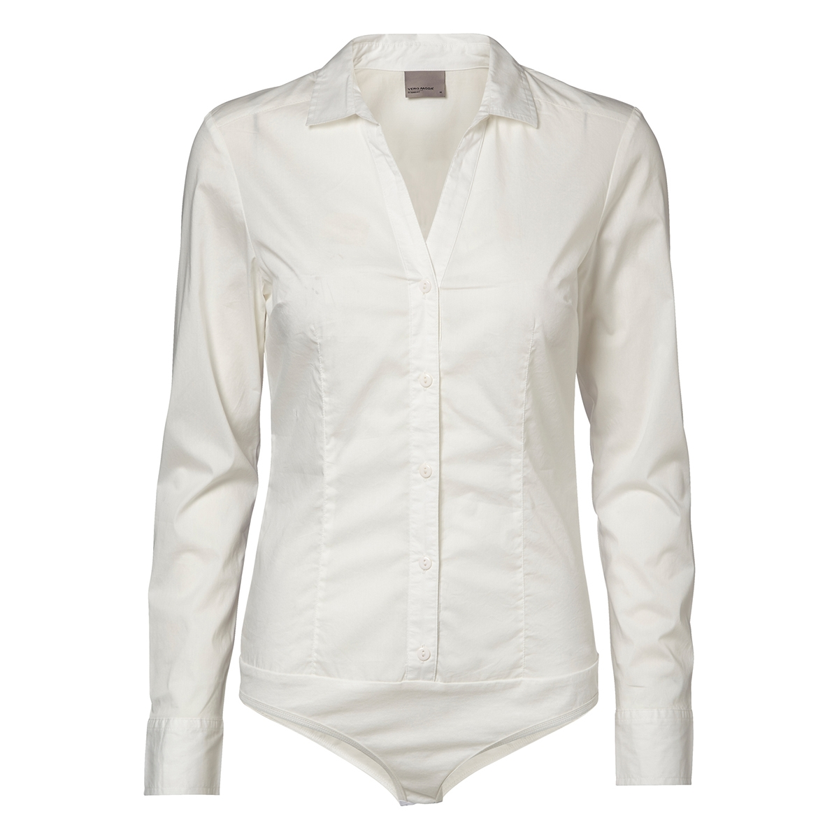 vmlady l/s g-string 10145522 vero moda blouse snow white