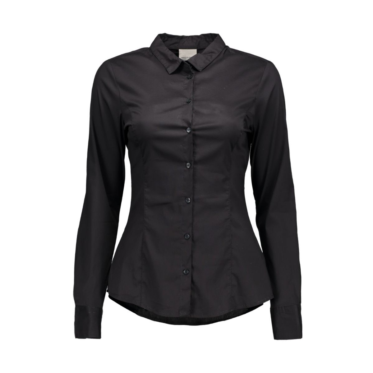 vmlady l/s shirt 10145524 vero moda blouse black
