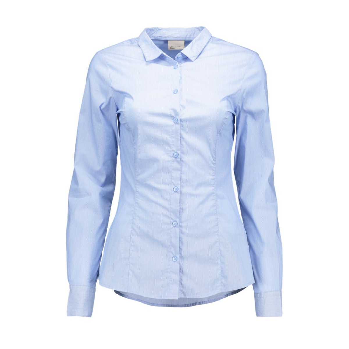 vmlady l/s shirt 10145524 vero moda blouse grapemist/pinstripe