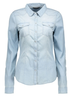 onlalwaysrock it fit 15112323 only blouse light blue denim