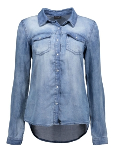 Vila Blouse ViBista Denim Shirt 14033008 medium blue