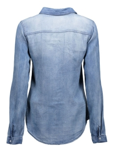 vibista denim shirt 14033008 vila blouse medium blue