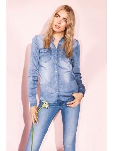 vibista denim shirt 14033008 vila blouse medium blue