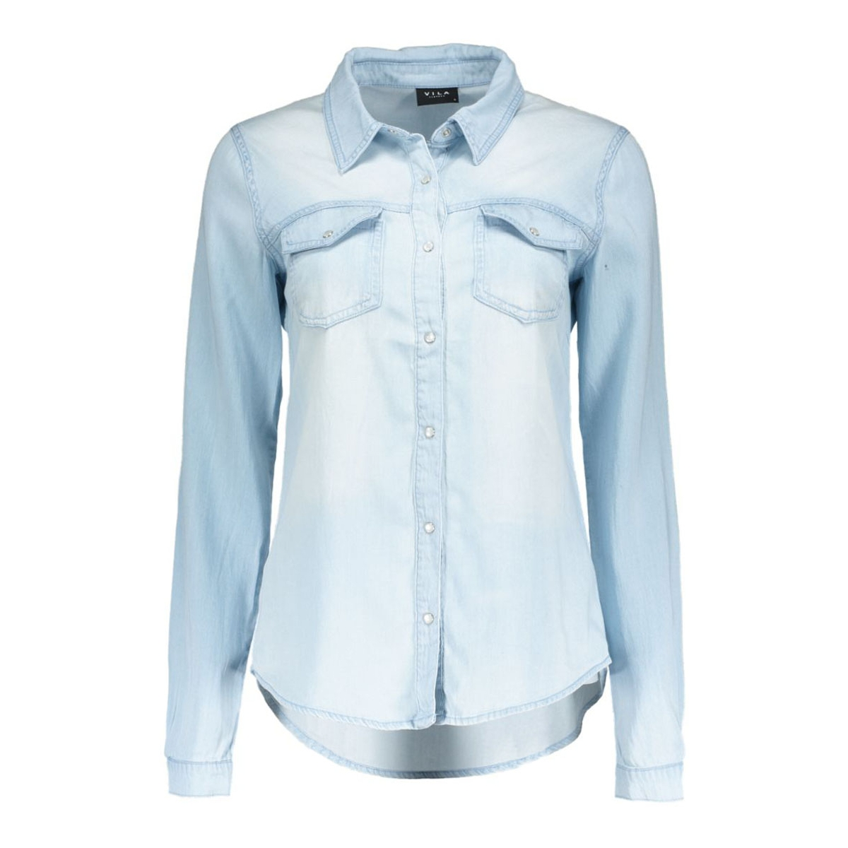 vibista denim shirt 1 14033008 vila blouse light blue denim