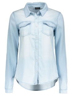 Vila Blouse viBista Denim Shirt 1 14033008 light blue denim
