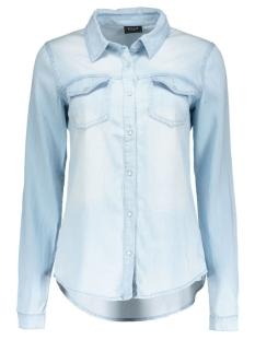 Vila Blouse viBista Denim Shirt 1 14033008 light blue denim