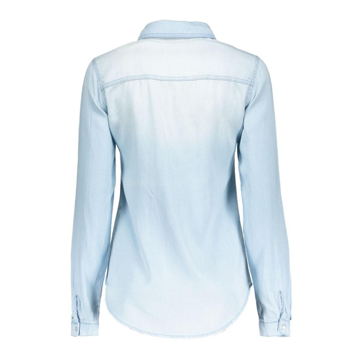vibista denim shirt 1 14033008 vila blouse light blue denim