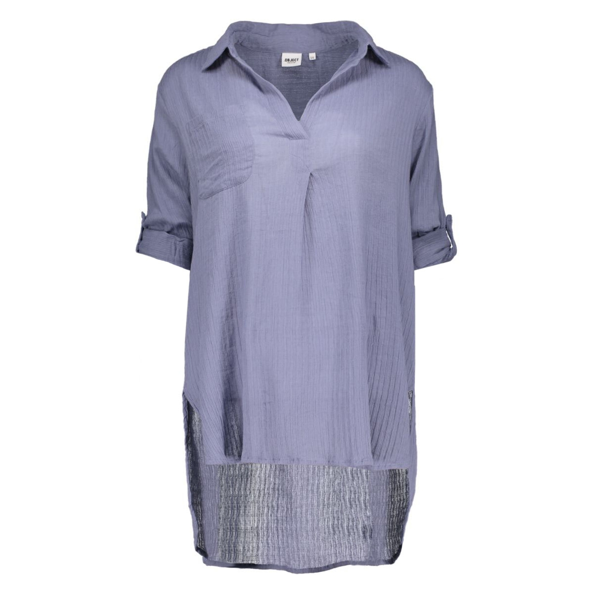 objarizona 3/4 shirt 85 23022350 object blouse stonewash