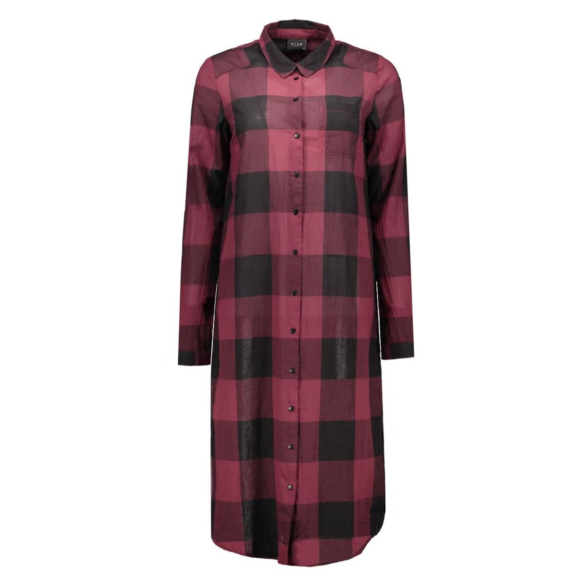 viseran long shirt 14036550 vila jurk tawny port