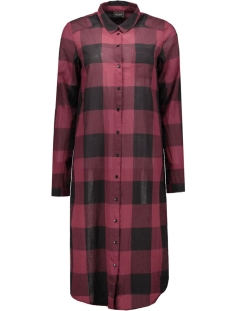 viseran long shirt 14036550 vila jurk tawny port