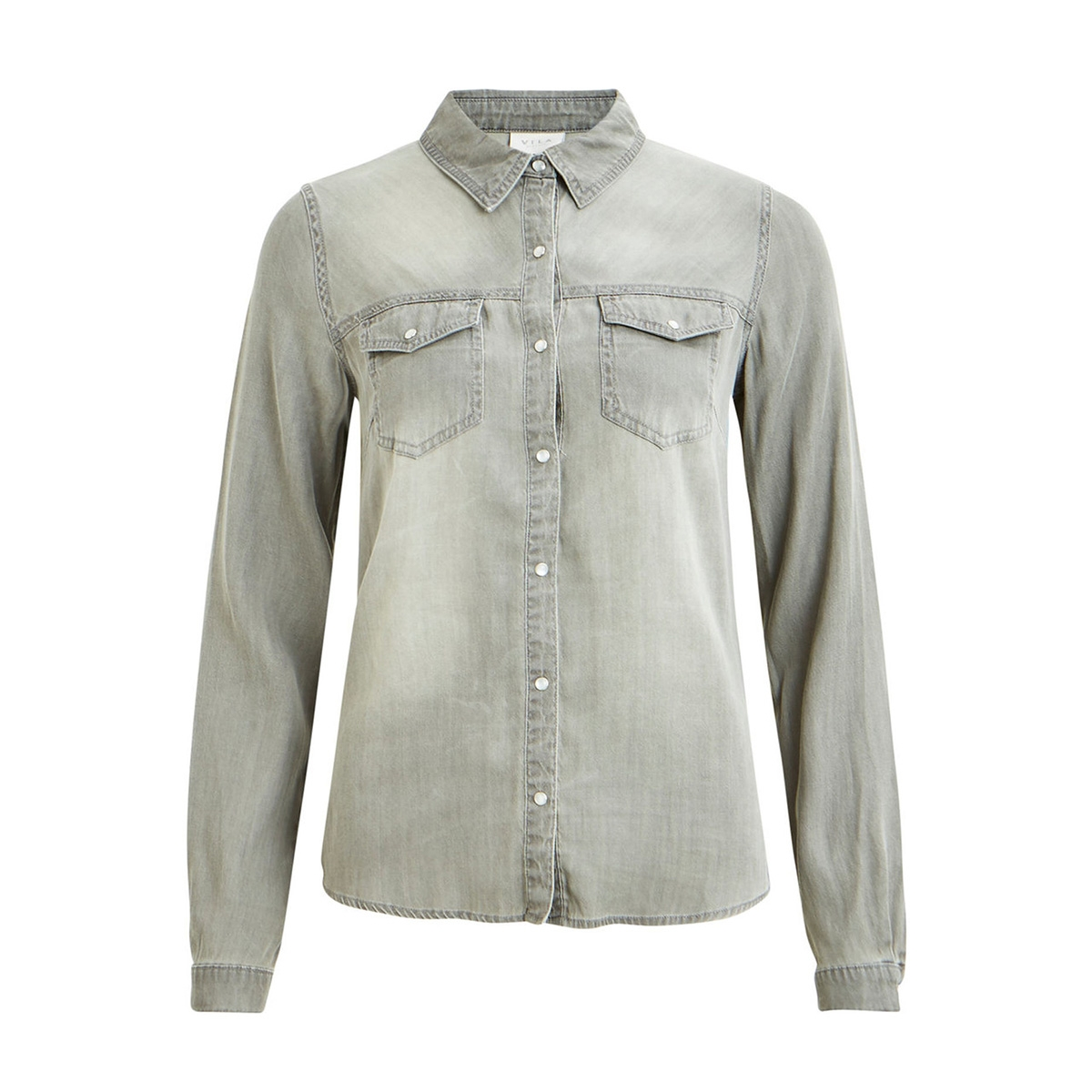 vibista denim shirt-noos 14033008 vila blouse grey denim