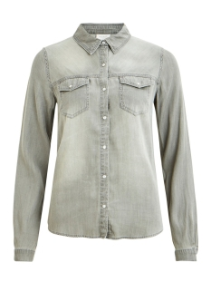Vila Blouses VIBISTA DENIM SHIRT-NOOS 14033008 Grey Denim