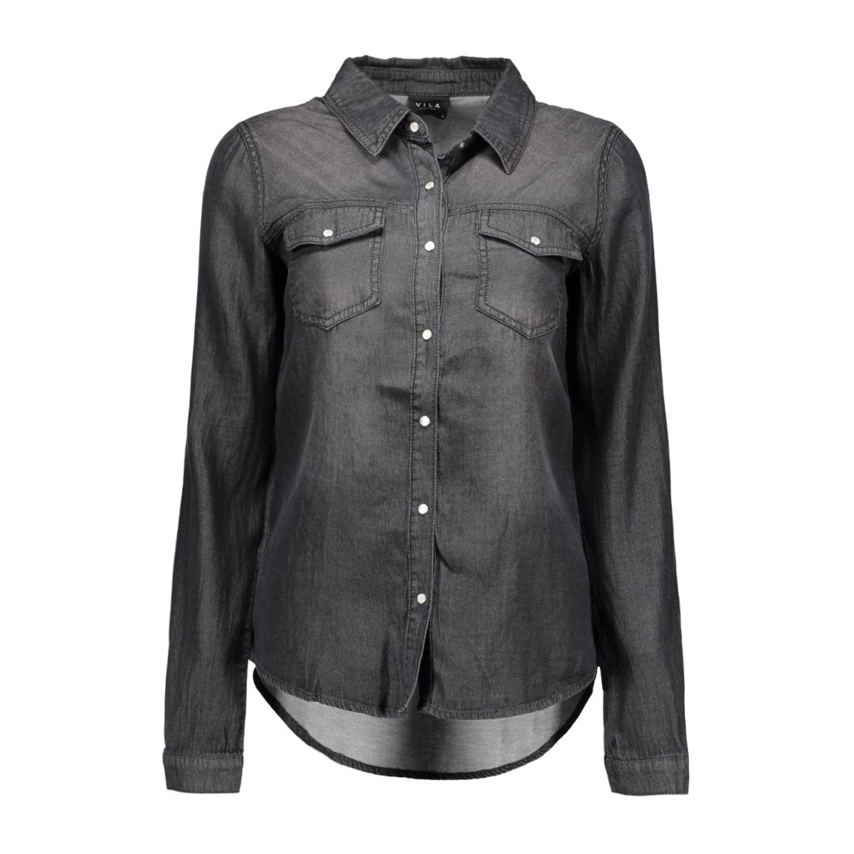 vibista denim shirt-noos 14033008 vila blouse black