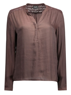 vielia shirt 14036644 vila blouse chocolate plum