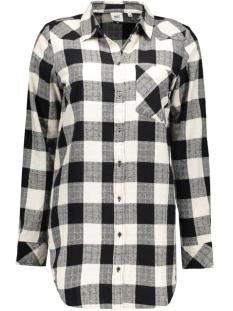 objcheck berry l/s long shirt 23023152 object blouse black