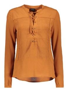 viannemary shirt 14037417 vila blouse roasted pecan