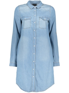 VIDONNA LONG DENIM SHIRT/1 14040831 Medium Blue Denim