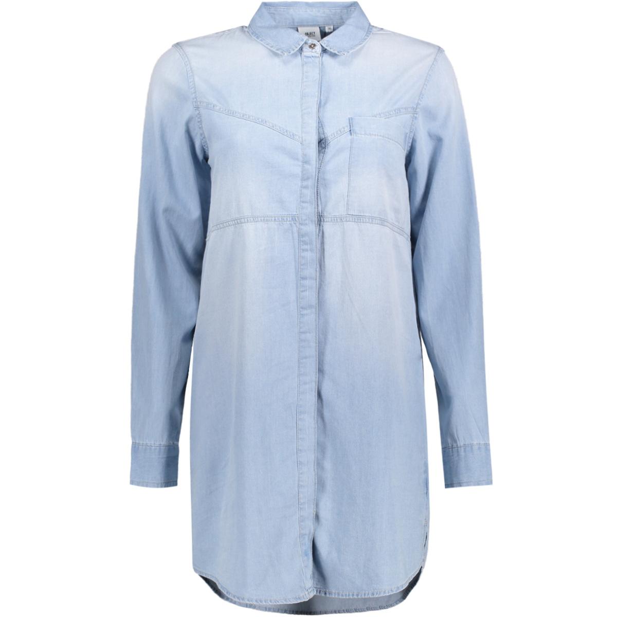 objdale l/s chambray long  shirt .i 23024038 object tuniek light blue denim