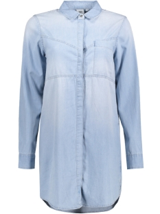 Object Tuniek OBJDALE L/S CHAMBRAY LONG  SHIRT .I 23024038 Light Blue Denim