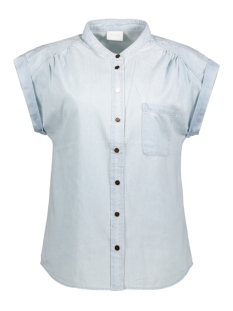 VIAMAZE S/L DENIM TOP 14040312 Light Blue Denim